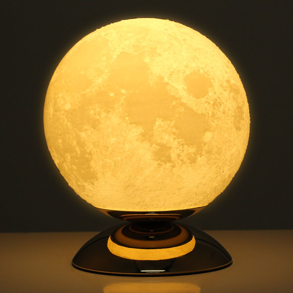 best and cheap warm white moon lamp 3d printed lamp us plug ac110 250v 50 60hz. Black Bedroom Furniture Sets. Home Design Ideas