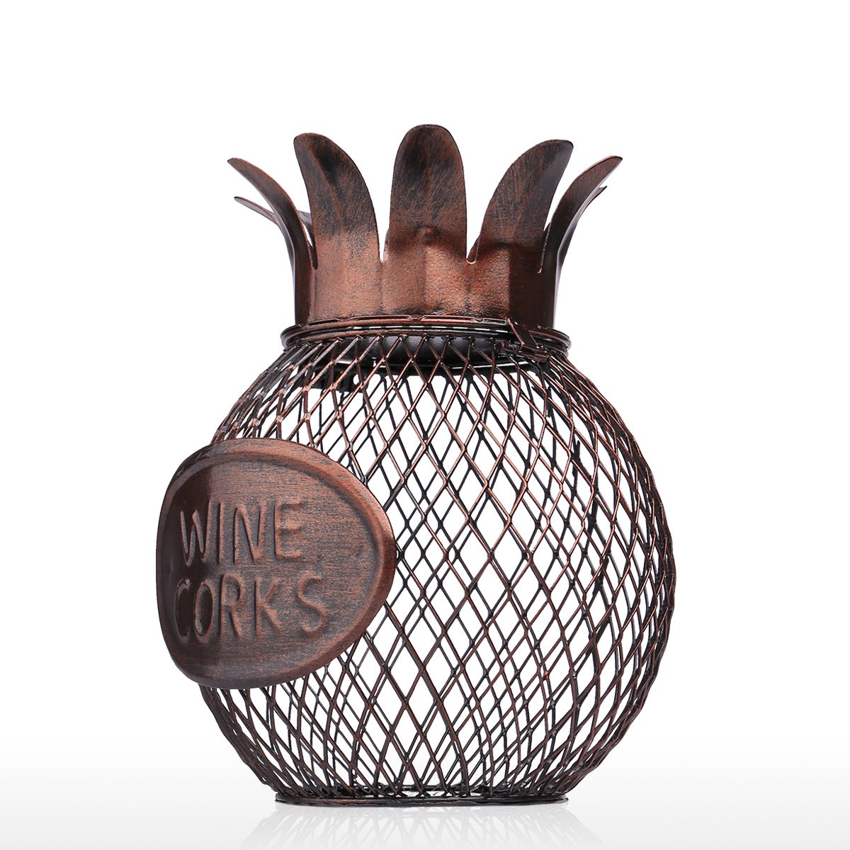 Tooarts Pineapple Wine Cork Container Practical Sculp Home Decor