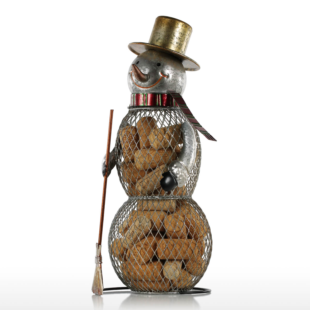 Best and cheap brown christmas snowman cork container