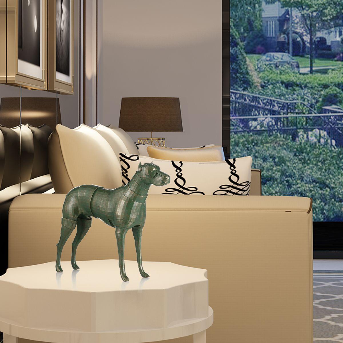 tomfeel armor dog resin escultura decoracin para el hogar original design dog