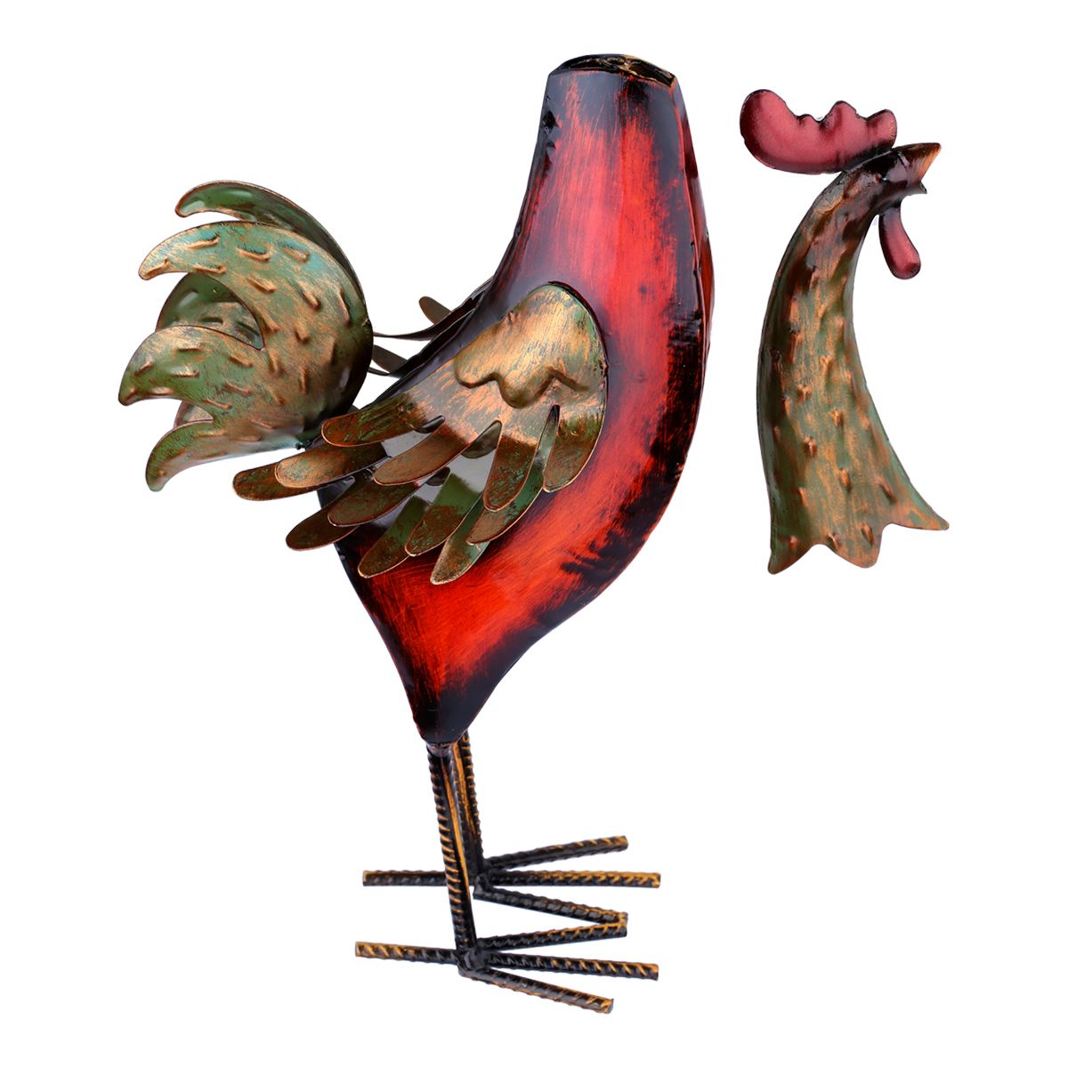 Tooarts Metal Figurine Iron Rooster Home Decor Articles: Best And Cheap Red Tooarts Multicolor Iron Rooster Metal
