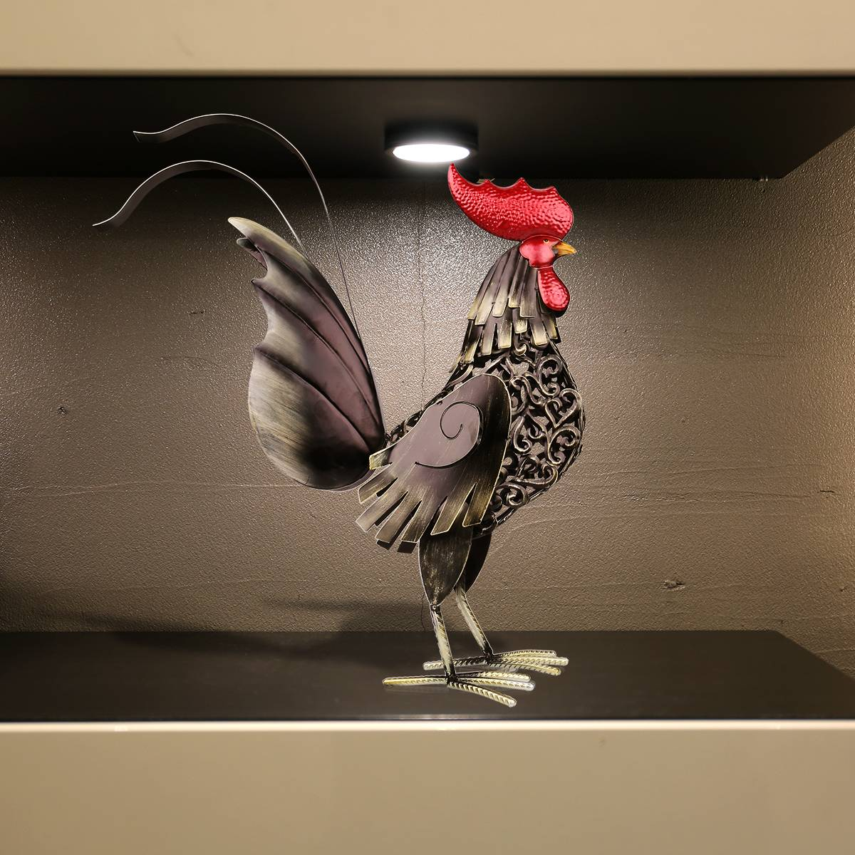 Tooarts Metal Figurine Iron Rooster Home Decor Articles: Best And Cheap Black Black Iron Rooster Metal Sculpture