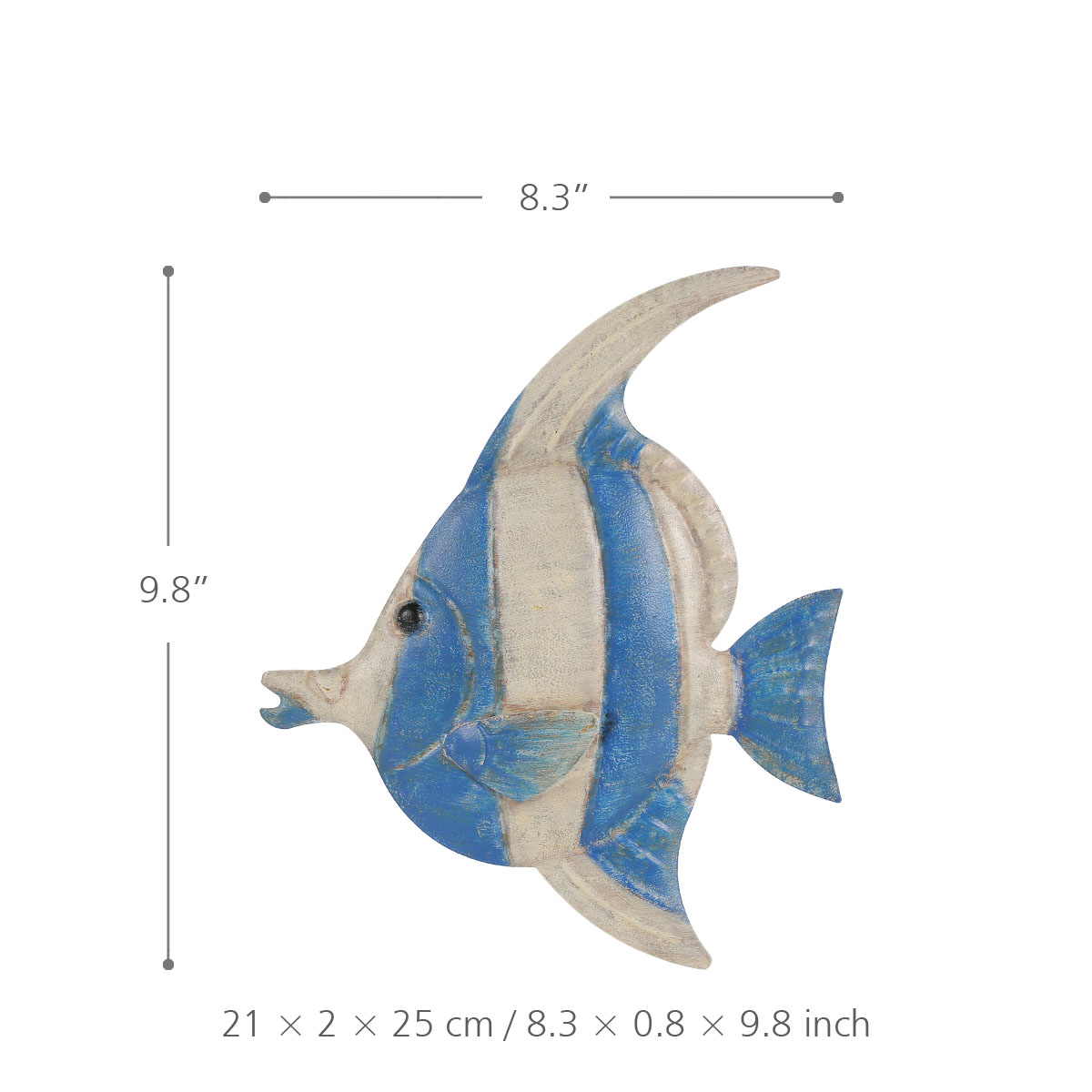 Best and cheap color1 fish wall hanging 1 iron wall decor for Fish wall hanging