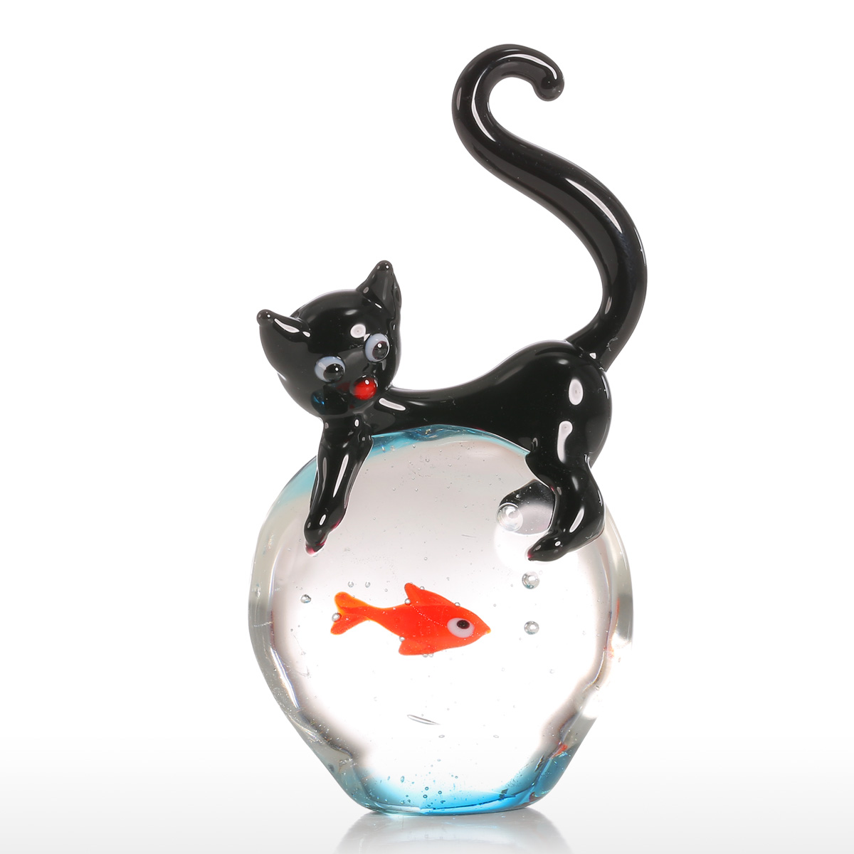 Home Decor Warehouse Sale Best And Cheap Black And Red Tooarts Cat And Goldfish Gift