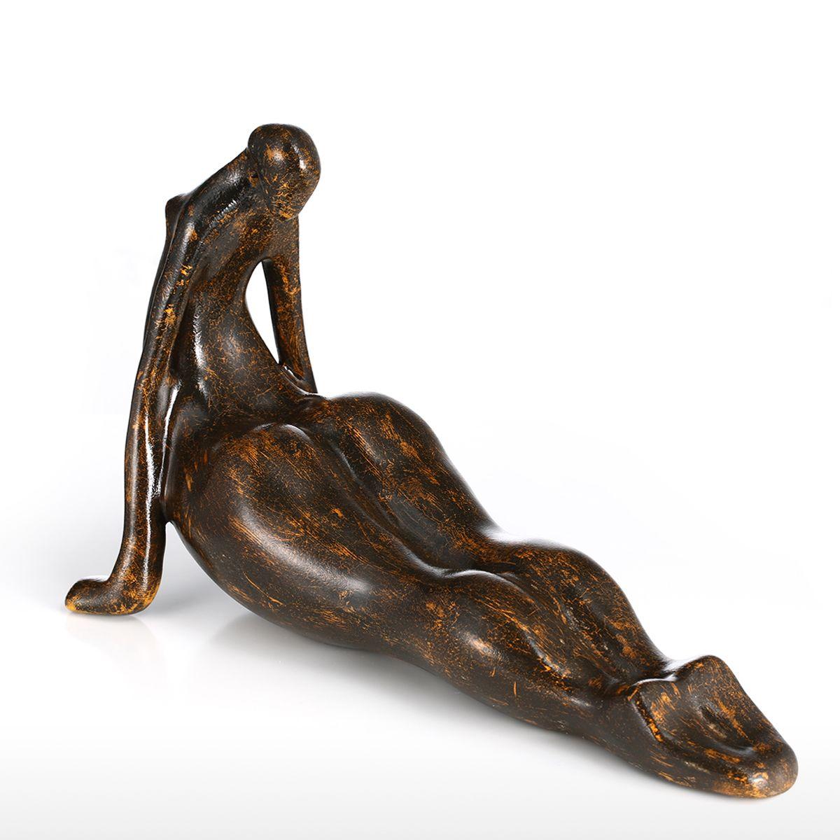 Best and cheap dark brown Tomfeel Plump Woman Yoga Cobra Resin ...