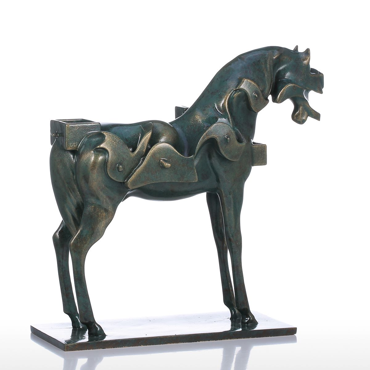 best and cheap bronze tomfeel surrealism horse resin sculpture