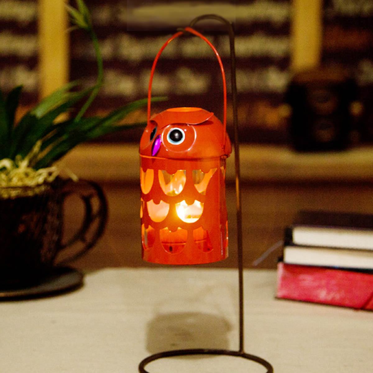 best and cheap red tooarts owl candle holder practical ornament